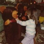 Lynn with a teddy bear