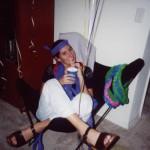 Lynn in a chair