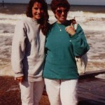 Lynn at the beach with Ellen