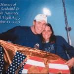 Lynn and Shawn with American Flag